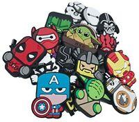 16 pcs Superheroes Star Shoe Charms for Croc & Bracelet jibbitz Wristband Kids