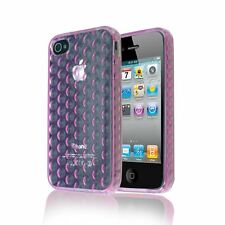 BUBBLE TPU GEL TRANSPARENT CLEAR SOFT CASE BACK COVER FOR IPHONE 4 / 4S