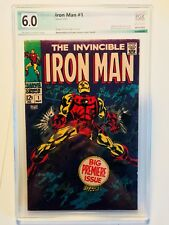 Iron Man #1, FN, PGX 6.0, OW/W Pages, not CGC CBCS, Origin of Iron Man Retold