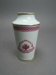 Höchst Heinrich Porzellan Classic Athene Purpur Vase ca. 13,3 cm H