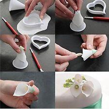 Cake Decorate Tool Sugar Fondant Gum Paste Ice Calla Lily Flower Cutter Mold Set