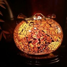Amber Gold Fragrance Oil Warmer 35watt Stained Glass. FREE OIL INCLUDED!