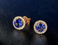 Lady Silver Austria Crystal Earrings Studs Women 18K Gold GP Wedding Jewellery