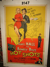 Hot Shots Original 1sh Movie Poster 1956 Huntz Hall & The Bowery Boys