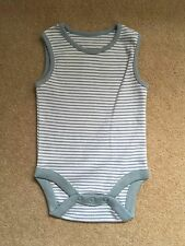 Unbranded 100% Cotton Striped Boys' Babygrows & Playsuits (0-24 Months)