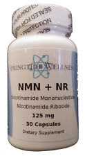 99.8% Pure NMN + NR Supplement Nicotinamide Mononucleotide Riboside NAD+ tested