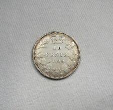 1890-H Canada Silver 10 Cents Coin AI679