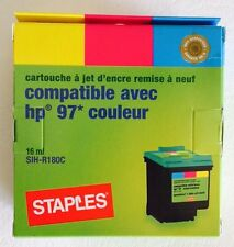 STAPLES TRICOLOR INKJET CARTRIDGE COMPATIBLE WITH HP 97 PRINTER RE-MANUFACTURED