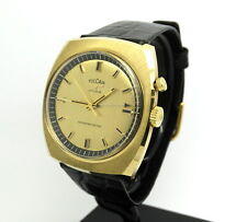 Rare 1960's Vintage Mens VULCAIN CRICKET Alarm Swiss Winding Wrist Watch S2312B