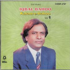 KALAM - E - BAHOO BY IQBAL BAHOO - VOL 1 - NEW SOUND TRACK CD