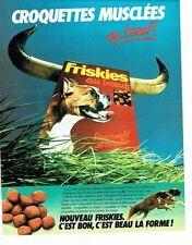 PUBLICITE ADVERTISING 027  1981  croquettes pour chien au boeuf Friskies