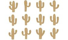 12 mixed Cactus plants MDF blanks, Picture-Scrapbook-box #CACT006-100mm