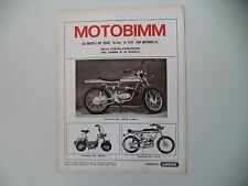 advertising Pubblicità 1971 MOTOBIMM MOTO BIMM CROSS 50 6M/MINI KS/ - P/4 A