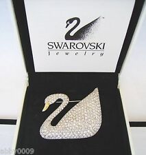 Signed Swan Swarovski 100 Year Pave Swan Brooch Pin