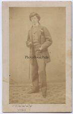 Baron Malortie cdv par Ferret Nice FranceVintage albumine ca 1860
