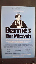 BERNIE'S BAR MITZVAH Window Card 1992