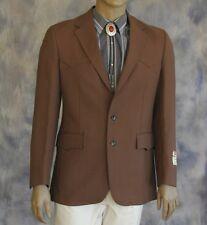 NWT LEVIS Stretch Western Wear Sportcoat Sz 40 L Dacron Poly Lined Stretch Panel