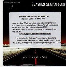(CE897) Slashed Seat Affair, No More Lies - 2009 DJ CD
