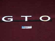 68 69 PONTIAC GTO GRILLE EMBLEM NEW 1968 1969 BADGE PLATE SCRIPT GRILL LEMANS