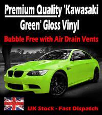 2 x A4 Sheets Air Drain Kawasaki Green Gloss Vinyl Film - Car Wrap Sticker