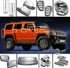 2006-2010 HUMMER H3 CHROME COVER TRIM 24PCS COMBO SIDE MARKER TAIL LIGHT LAMP