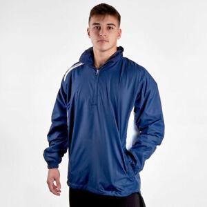 VX3 Mens Team Tech Half Zip Training Jacket Navy Lightweight Hoodie Size XL BNWT