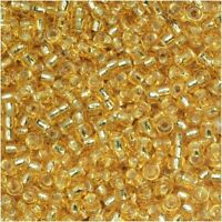 Miyuki Round Rocaille Seed Beads Size 11/0 24GM Silver Lined Gold 11-3
