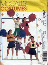 CHEERLEADER Costume Sz 3 - 4  Sz 23 / 21 / 24 GIRLS  Patterns