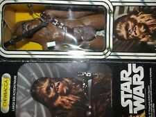 "$ VTG~1977~1978~Star~Wars~12""~15""~Large~CHEWBACCA~Doll~action~figure~box~weapons"