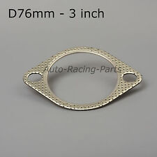 "*76mm* TURBO Exhaust FLAT GASKET 3"" CATBACK for Nissan Silvia S13 S14 S15"