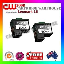 2 x Compatible Lexmark 16 for Lexmark X1140 X1150 Z25 Z513 Z615 Z515 Black