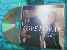 American Young   Love Is War - CURB Records Promo CD Single