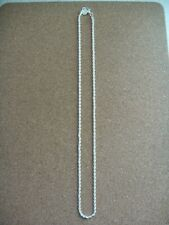 """new 2mm silver 20"""" rope chain."""