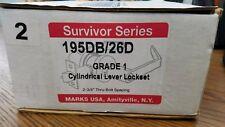 Marks 195DB/26D Survivor Series Grade 1 Cylindrical Lever Double Side Lockset