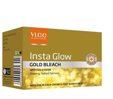 VLCC INSTA GLOW FAIRNESS GOLD BLEACH CREAM FOR REMOVING TAN FACIAL HAIR 30GM
