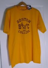 Boston College Eagles Gold Champion T Shirt Short Sleeve NCAA Mens Size Large L
