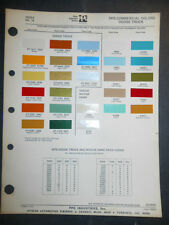 1975 DODGE TRUCK  DITZLER PPG COLOR CHIPS PAINT SAMPLES  COMMERCIAL