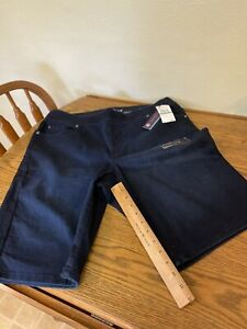 New with Tags Gloria Vanderbilt Avery Blue Comfort Stretch ~  Shorts Size 16