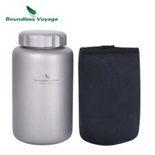 600ml Titanium Water Bottle Leakproof Outdoor Sport Cycling Drinking Jar Canteen