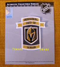 Official NHL 2017 2018 Las Vegas Golden Knights Inaugural Season Patch