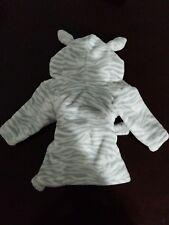 Hudson Baby Animal Plush Hooded Bathrobe, Zebra