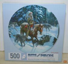"""New 300 Piece 20"""" Round Art Puzzle by Russ Docken """"Moon Walk"""" Indian 2015"""