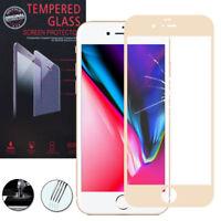 "Cristal protector para Apple iPhone 8 4.7"" real de Pantalla oro"