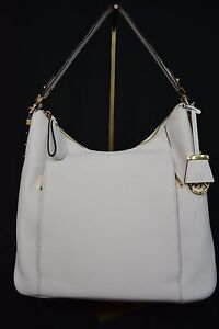 NWT MICHAEL Michael Kors Bowery Large Hobo/Tote Bag/Shoulder Bag in Optic White