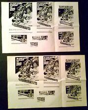 Pressbook Ad Mat Lot ~ THE TERRORNAUTS ~1967 ~Simon Oates ~Zena Marshall ~Horror