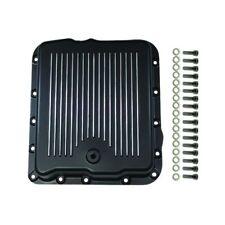 700R4 Black Aluminum Transmission Pan Chevy GM 4L60E 4L65E SBC BBC Trans Pan