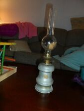 Antique Pewter Whale Oil Hurricane Lamp