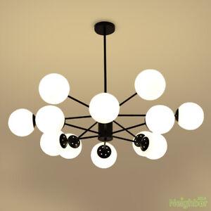Modern Glass ball LED Pendant Lamp Suspension Chandelier Ceiling lights Lighting