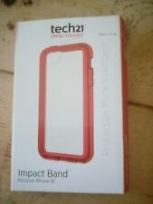 Genuine Tech21 D30 Patrol Case Cover for iPod touch 5th Generation -  Clear/ Red