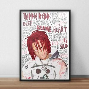 Trippie Redd Poster / Print / Wall Art A4 A3 / Hip Hop / Dark Knight Dummo / Rap